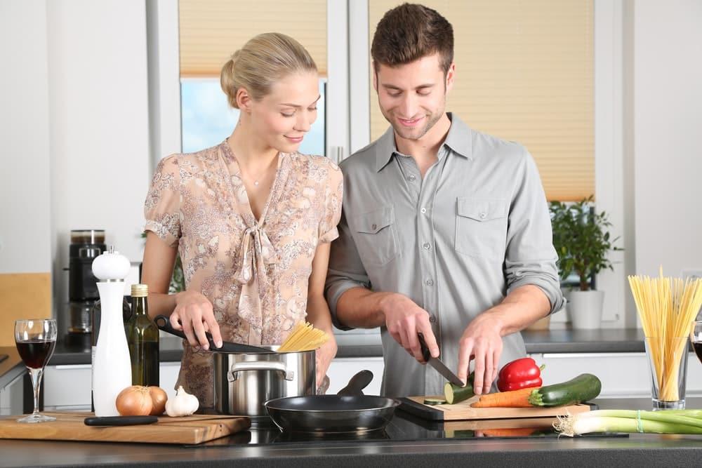 Libra Man Cooking Dinner