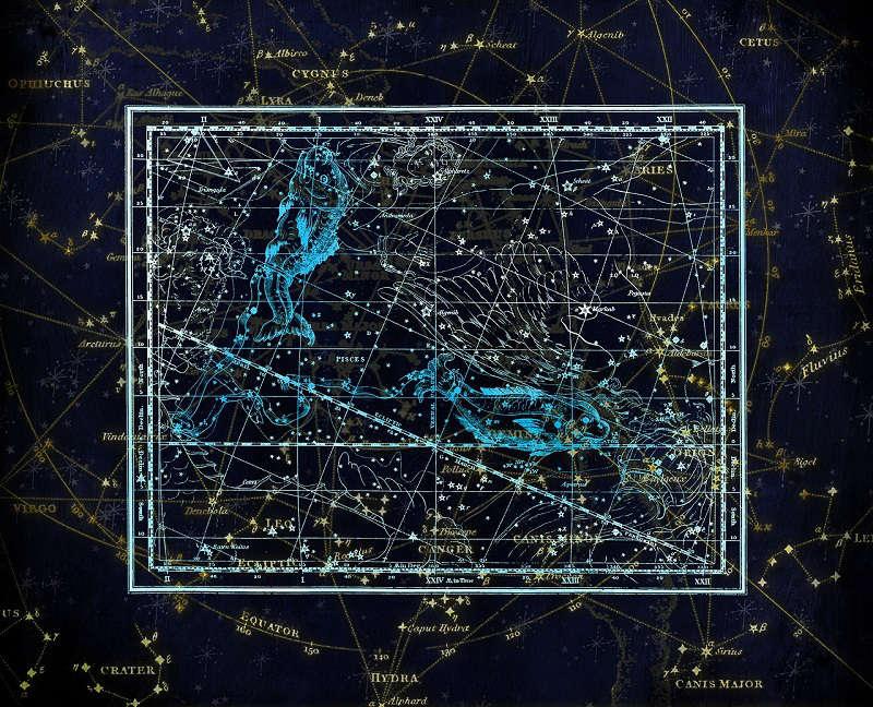 Pisces Constellation Map