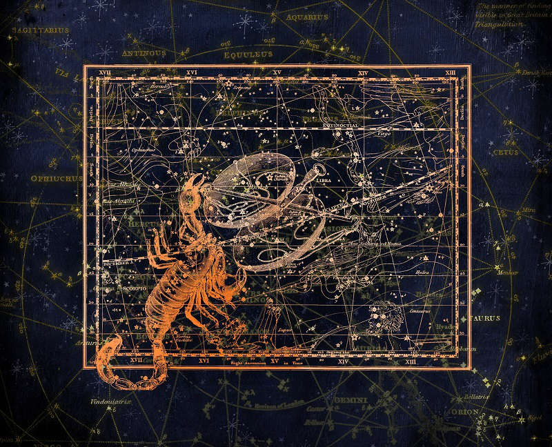 Scorpio Constellation Map