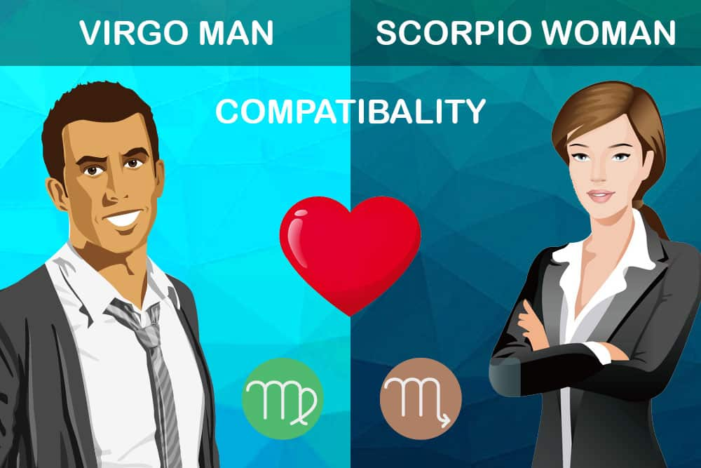 scorpio male dating virgo female