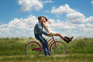 Love Horoscope Couple on Bike