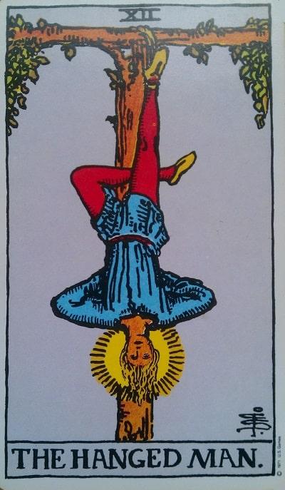 Upright Hanged Man Tarot Card Meaning – Major Arcana XII