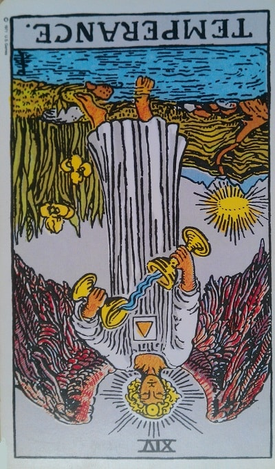 Inverted Temperance Tarot Card Meaning (Reversed) – Major Arcana