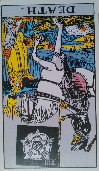 Reversed Death Tarot Card Meaning (Inverted) – Major Arcana XIII