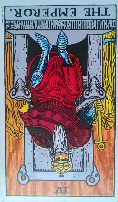 Reversed Emperor Tarot Card Meaning (Inverted) – Major Arcana IV