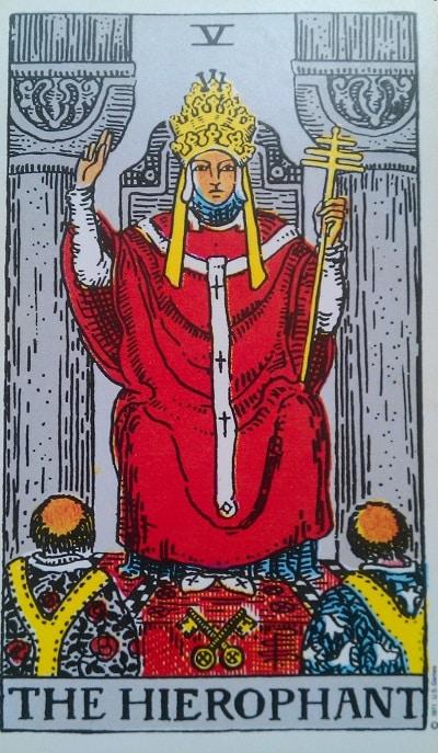 Upright Hierophant Tarot Card Meaning – Major Arcana