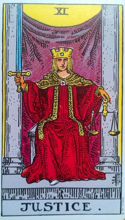 Upright Justice Tarot Card Meaning – Major Arcana