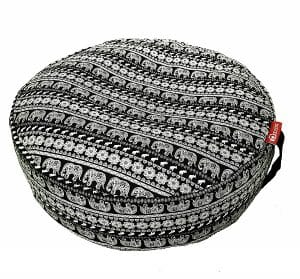 Aozora Zafu Meditation Yoga Inflatable Cotton Bolster Pillow Cushion Lightweight and Non-slip with Premium Designs