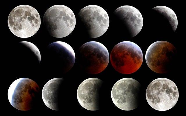 Full Moon in Aquarius Lunar Eclipse