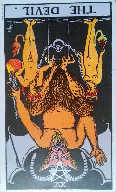 The Devil Tarot Card Meaning Upright and Reversed - Major