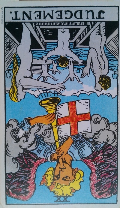 Inverted Judgement Tarot Card Meaning – Major Arcana