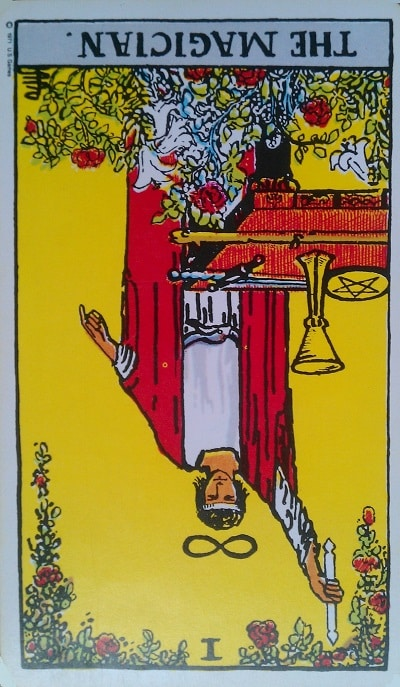 Inverted Magician Tarot Card Meaning (Reversed) – Major Arcana