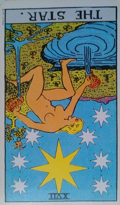 Inverted Star Tarot Card Meaning (Reversed) – Major Arcana