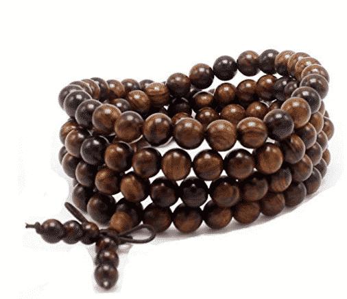 JIIUZUO 8mm 108 sandalwood prayer beads