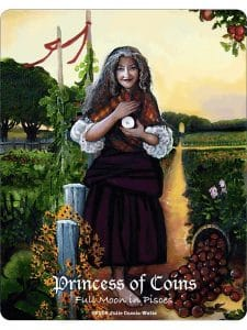 Princess of Coins - Full Moon in Pisces - Maat Tarot Deck Review