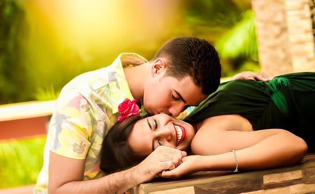 Signs a Leo Man Likes You Kissing