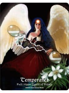 Temperance - Full Moon Cycle of Pisces - Maat Tarot Deck Review