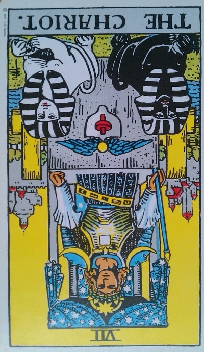 Inverted Chariot Tarot Card Meaning (Reversed) – Major Arcana