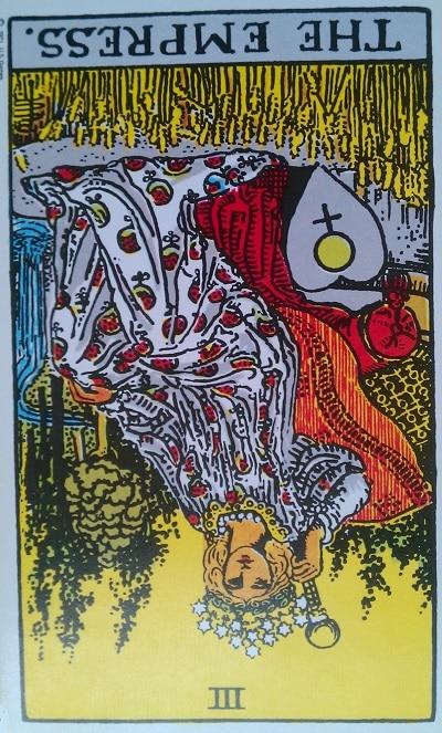 Inverted Empress Tarot Card Meaning (Reversed) – Major Arcana