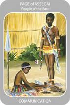 Page of Assegai - iTongo Tarot Deck