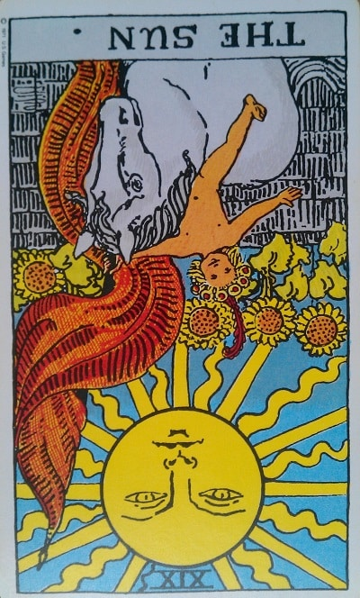 Inverted Sun Tarot Card Meaning (Reversed) – Major Arcana
