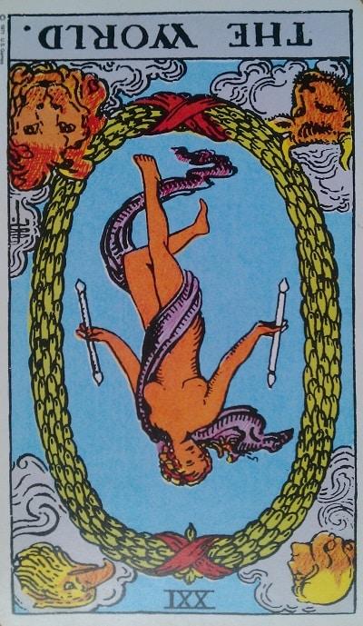 Inverted World Tarot Card Meaning (Reversed) – Major Arcana