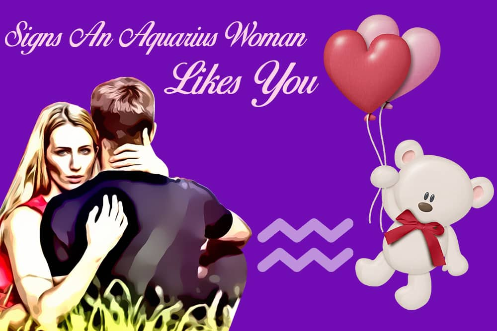 12 Obvious Signs an Aquarius Woman Likes You