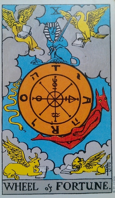 The Wheel of Fortune Tarot Card Meaning Upright and Reversed