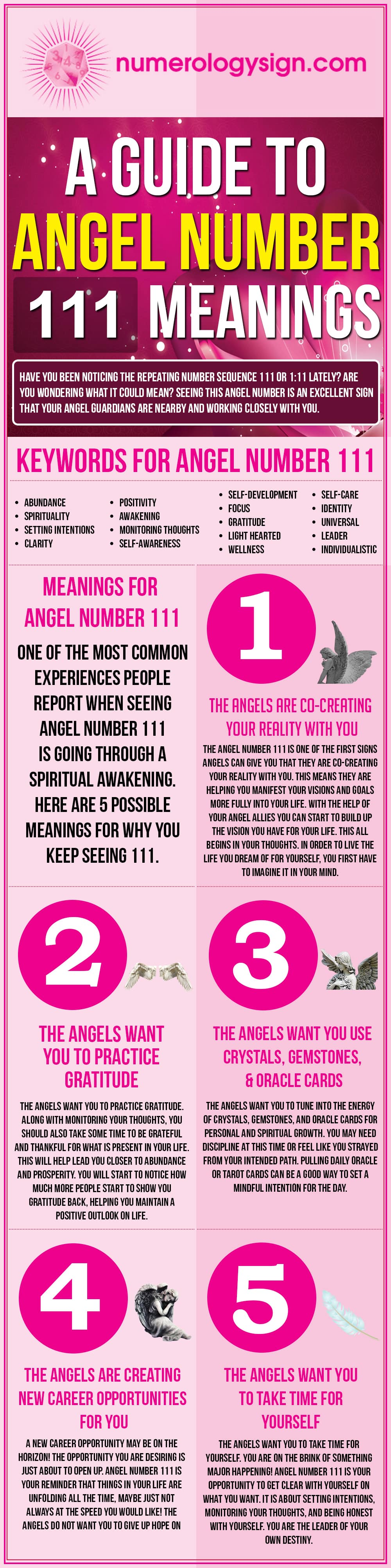Angel Number 111 Meanings Infographic