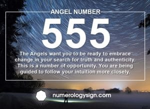 Angel Number 555 Meanings