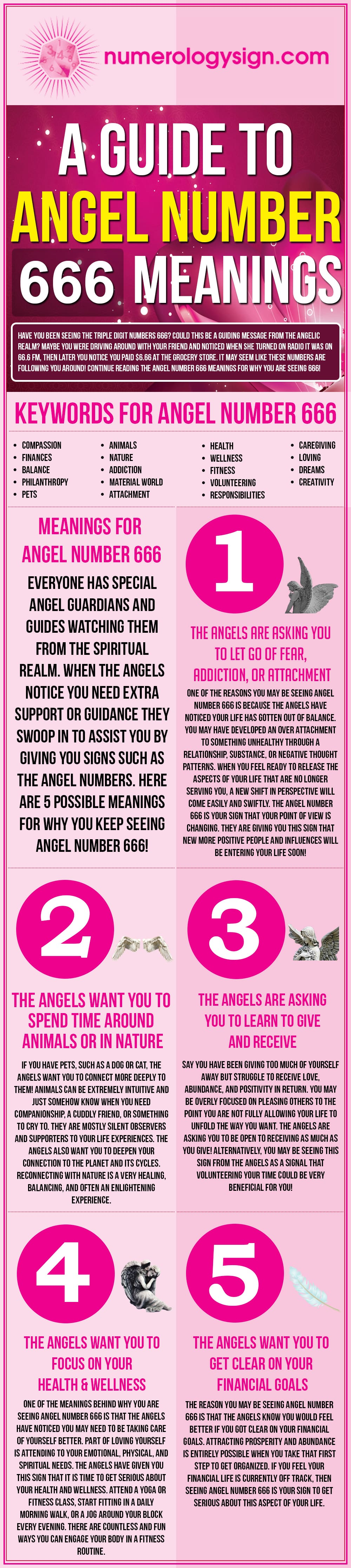 Angel Number 666 Meanings Infographic