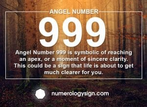 Angel Number 999 Meanings