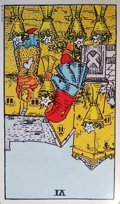 Reversed (6) Six of Cups Tarot Card Meaning – Minor Arcana