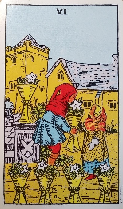 Upright (6) Six of Cups Tarot Card Meaning – Minor Arcana