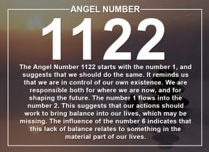 Angel Number 1122 Meanings