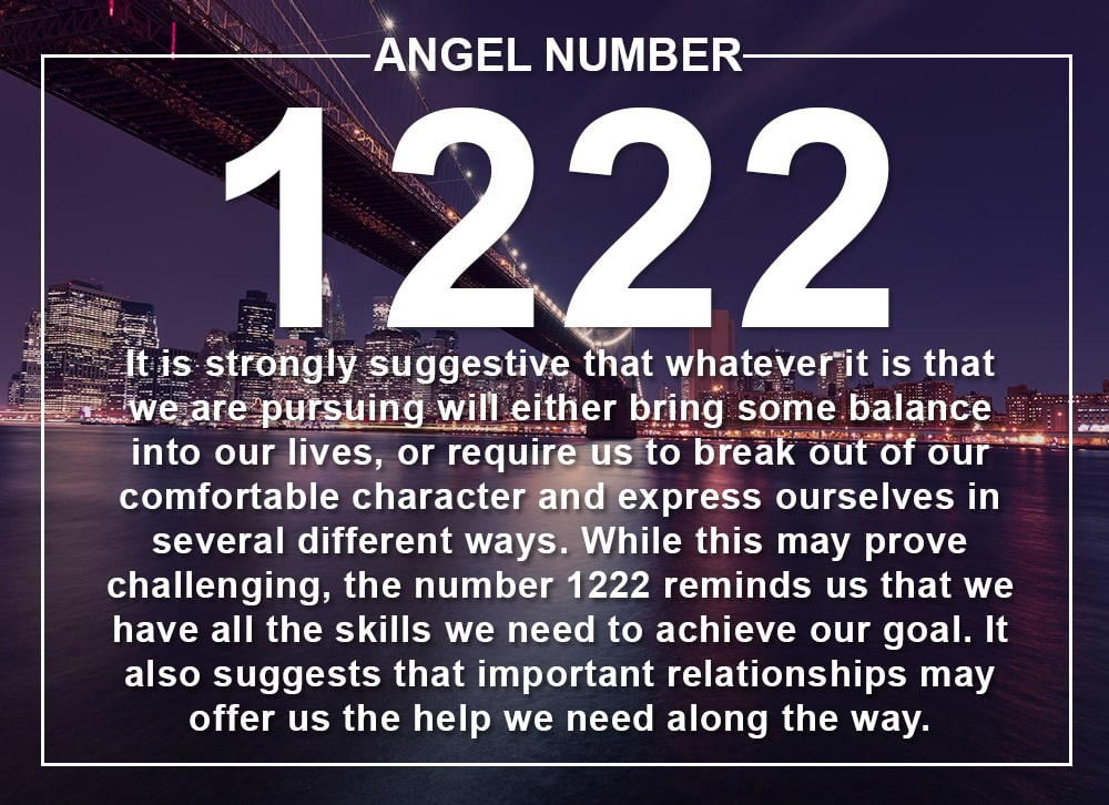 Angel Number 1222 Meanings