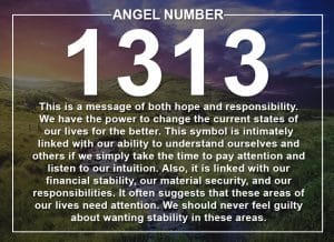 Angel Number 1313 Meanings