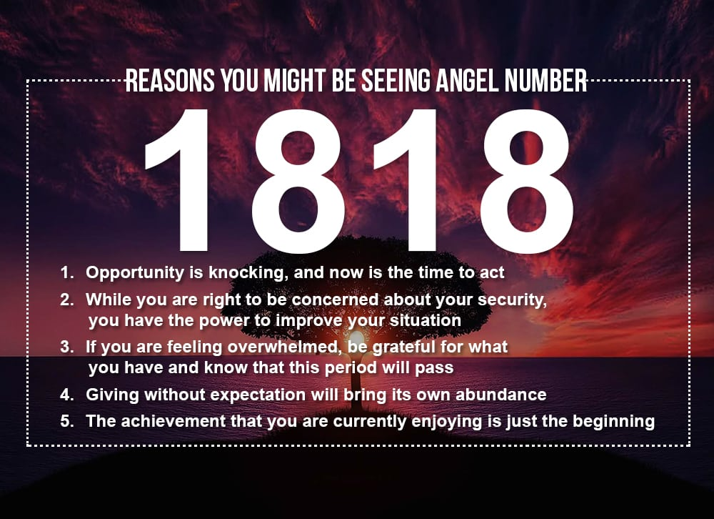 Reasons you might be seeing the Angel Number 1818