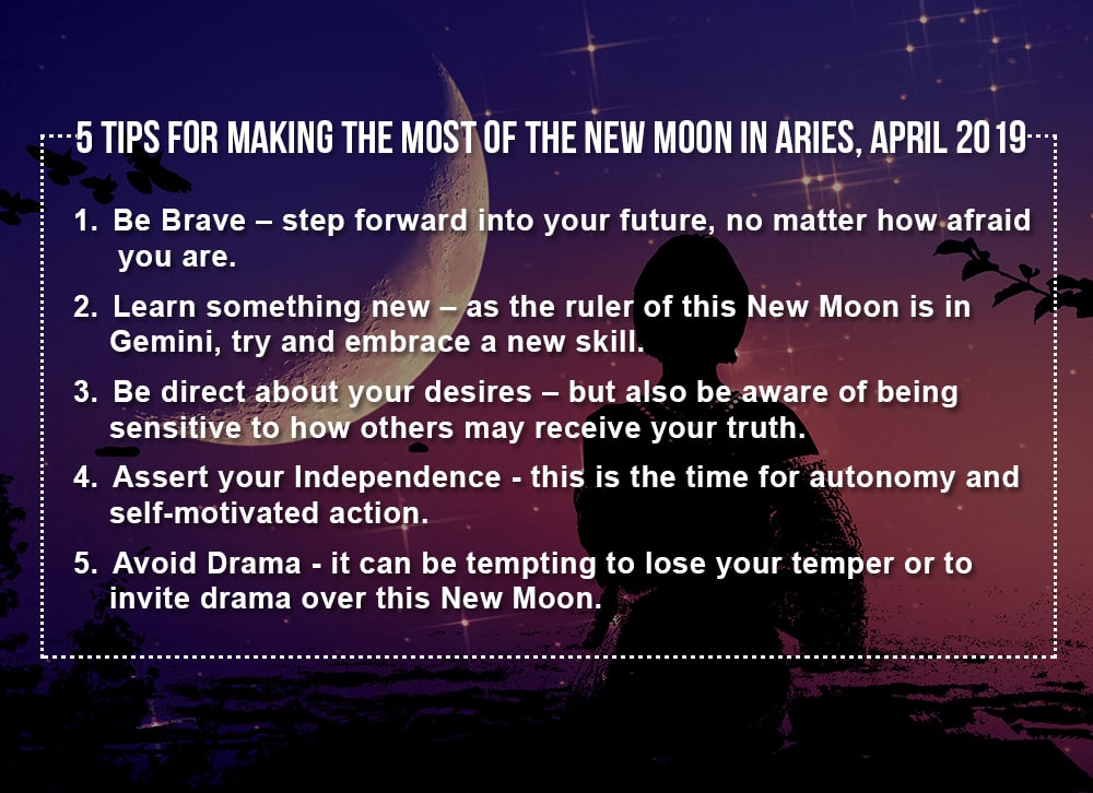 5 Tips for making the most of the New Moon in Aries April 2019