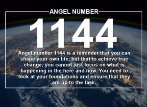 Angel Number 1144 Meanings