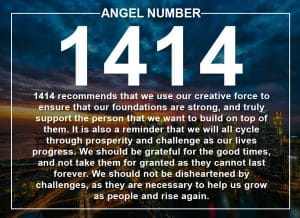 Angel Number 1414 Meanings