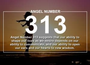 Angel Number 313 Meanings