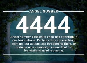 Angel Number 4444 Meanings
