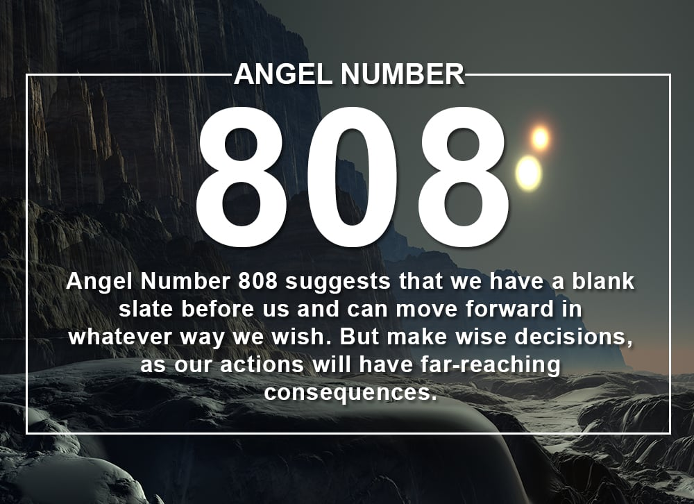 Angel Number 808 Meanings