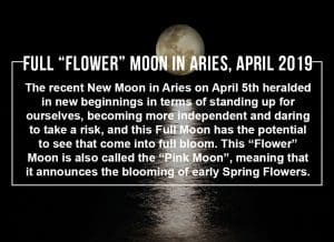 Full Flower Moon in Aries April 2019