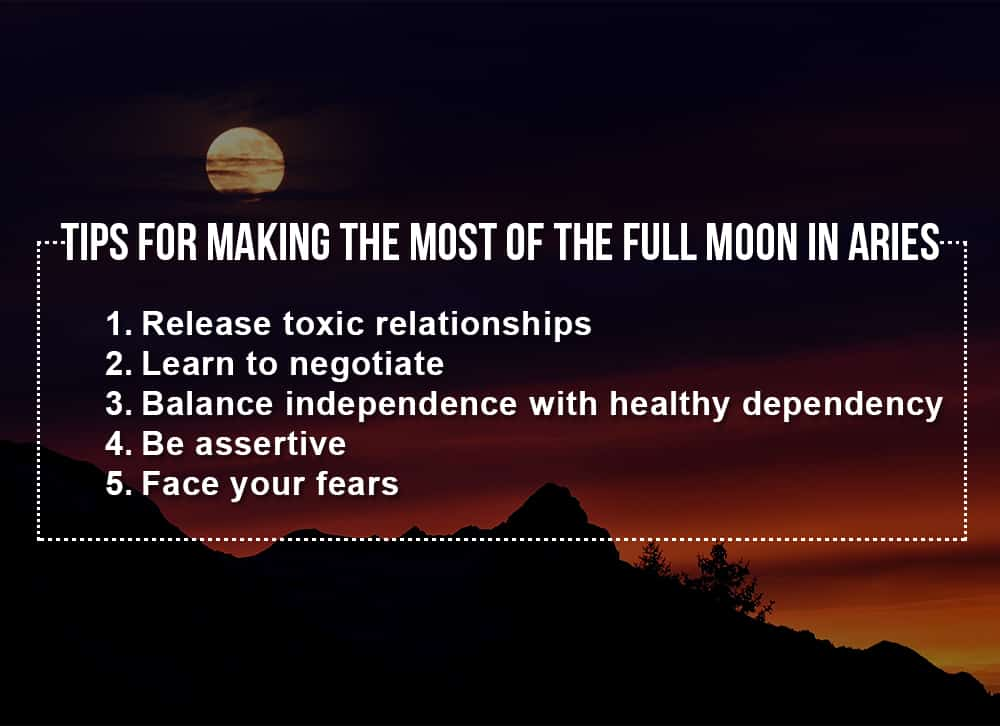 Tips for making the most of the Full Moon in Aries