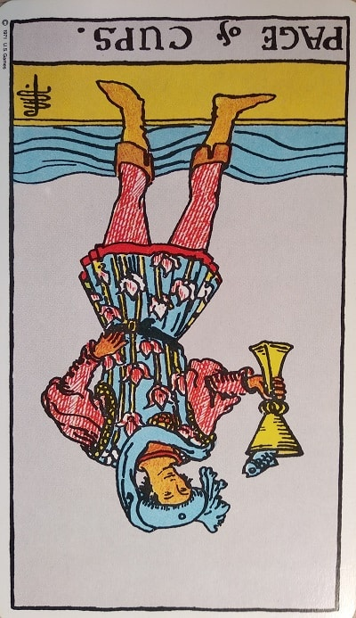 The Page of Cups Tarot Card Meaning Upright and Reversed