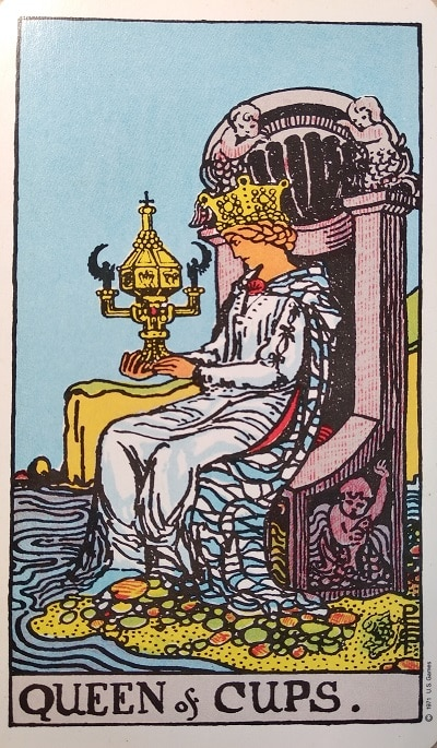 Upright Queen of Cups Tarot Card Meaning – Minor Arcana