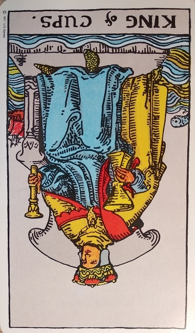Reversed King of Cups Tarot Card Meaning – Minor Arcana