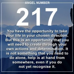 Angel Number 217 Meanings